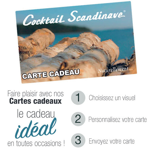 Carte Cadeau Cocktail Scandinave